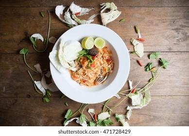 papaya salad,Thai cuisine