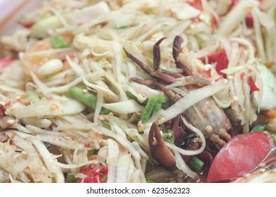 papaya salad,Thai food.