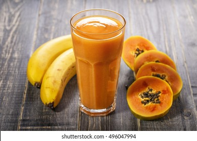 Papaya Banana Smoothie Images, Stock Photos & Vectors | Shutterstock