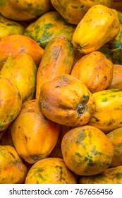 Papaya in Sucre market, Boliva.
