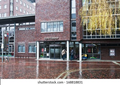 PAPENBURG, GERMANY - DECEMBER 14: SPARKASSE in Papenburg, Germany on December 14, 2013.