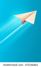 Paper airplane, 3D illustration