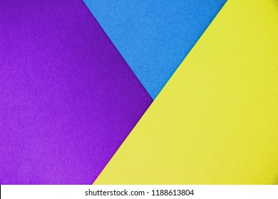 paper background consists of three cards in different colors