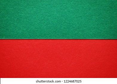 A paper background of two colors red and green for your text or design, Christmas concept