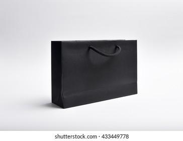 paper bag black template mock up