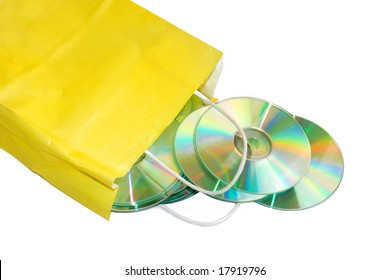 paper bag with CD