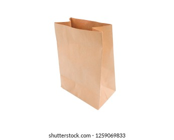 Paper bag isolated on white background. Clipping Path