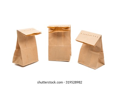 a paper bag on a white background