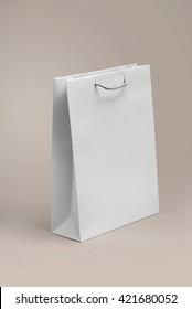 paper bag template mock up