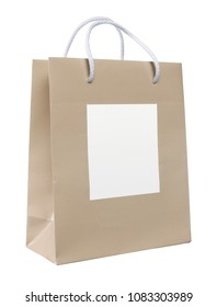 paper bag with white space where to enter your name