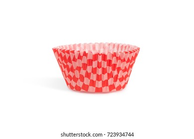 Paper baking case for cupcake and muffin, isolated white background.Celebration time with sweet dessert and happiness, baking life style.