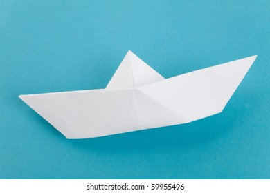 Paper Boat, old toy, close up