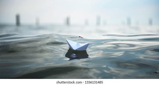 Paper Boat & Sea