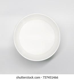 Vector Ceramic Plate Blue Border Stock Vector 280858631 - Shutterstock