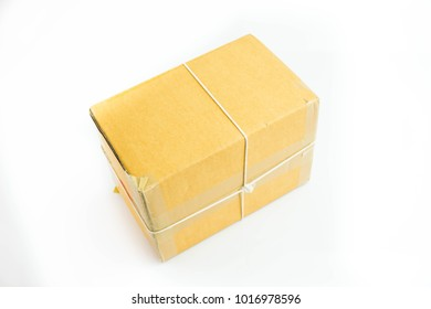 paper box package on white background