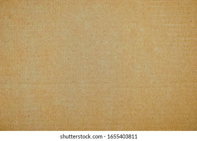 Paper box or packing paper texture, Brown horizontal line corrugated cardboard used for background, Close up