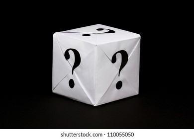 Paper box with question sign