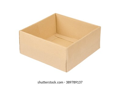 paper brown box isolate on white
