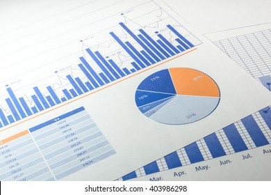 Paper of business growth graph / financial graph.For business concept.