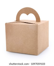 paper cake packaging box , gift ontainer with handle.