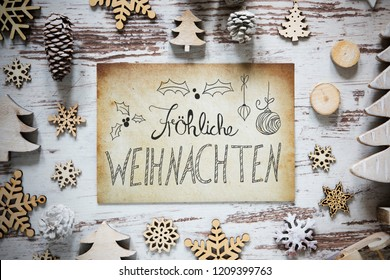 Paper, Calligraphy Froehliche Weihnachten Means Merry Christmas
