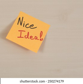 "paper card with text ""NICE"""