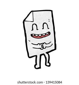 paper cartoon character