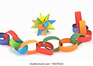 paper chain and paper star