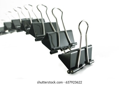 paper clip in business leadership concept