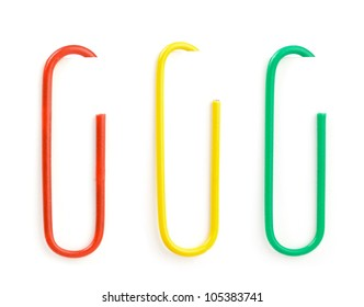 paper clip set isolated on white  background