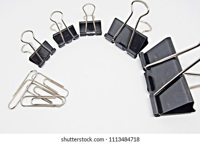 paper clips in white background