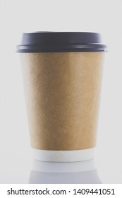 paper coffee cups on white background