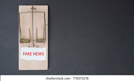 The paper contained a fake news message placed on a trap.