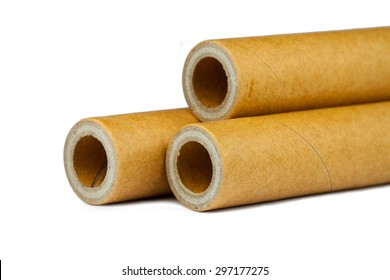 Paper core isolated on a white background
