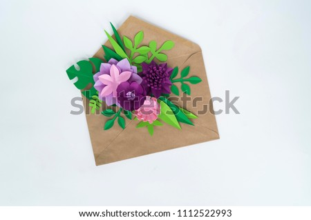 Paper Craft Flower Decoration Concept Flowers Stock Photo Edit Now