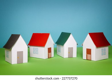 Paper craft houses.