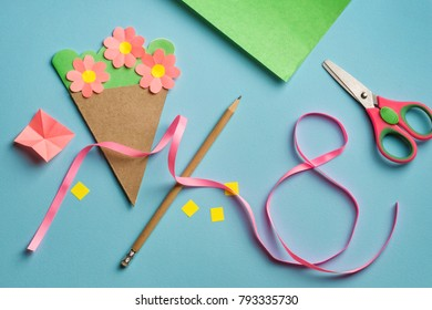 Paper Crafts Mothers Day 8 March Stock Photo Edit Now 793451863