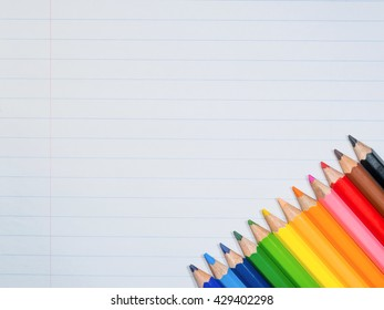 Paper with crayon.