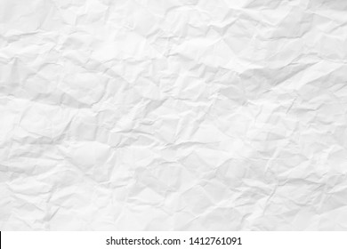 paper crease or crumpled , abstract texture white background.