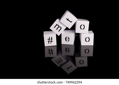 paper cubes with the letter - #me too