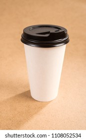 paper cup of cappuccino with a lid drink hot takeaway
