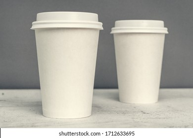 Paper cup. Recycling. Eco-friendly disposable tableware. Eco dishes