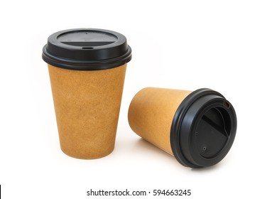 Paper cups with black cover