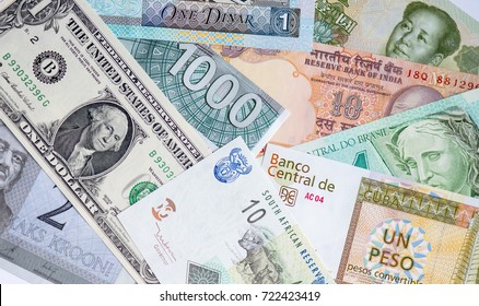 Paper currencies from different countries