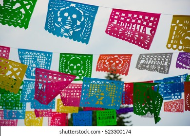 Paper decorations for the day of the dead