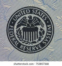 Paper dollar. Macro photo