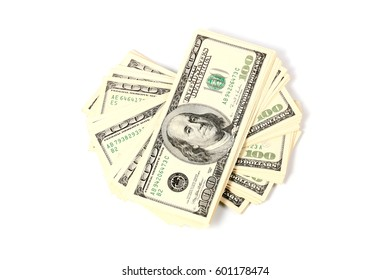 A lot of paper dollars as an element of the trade and economic system
