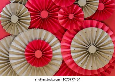 Paper fan tutorial origami flowers simple stock photo edit now origami flowers simple paper rosettes decoration diy mightylinksfo