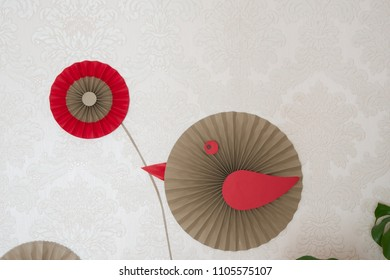 Fan paper hand make images stock photos vectors shutterstock paper fan tutorial origami flowers simple paper rosettes decoration diy party backdrop mightylinksfo