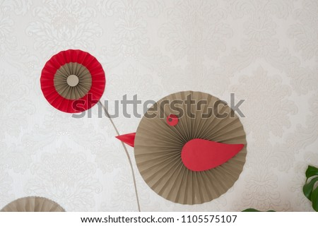 Paper fan tutorial origami flowers simple stock photo edit now paper fan tutorial origami flowers simple paper rosettes decoration diy party backdrop mightylinksfo